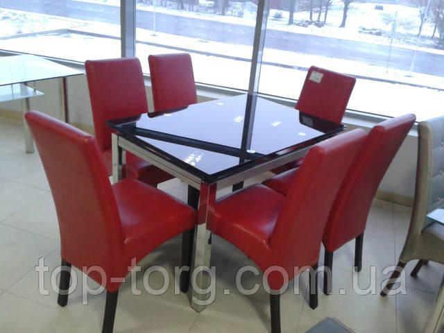Стол ТВ017 черный из стекла