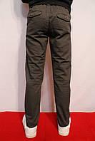Осенние, стрейчевые котоновые брюки серого цвета, для мальчиков от 4 до 12 лет (116-152см.). Польша