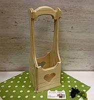 Короб для вина с ручкой и сердечком, фото 1