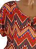 Легкая блуза-туника с узором (в расцветках 46-50), фото 2
