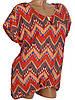 Легкая блуза-туника с узором (в расцветках 46-50), фото 3