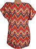Легкая блуза-туника с узором (в расцветках 46-50), фото 4