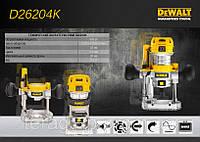 Фрезер DeWalt D26204K, 900 Вт, цанга 6-8 мм,16000-27000 об/мин, 2 платформы, чемодан.