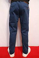 Осенние, стрейчевые котоновые брюки темно-голубого цвета, для подростков от 8-16лет(134-164см)Catenvin.Польша