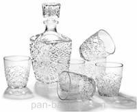 Dedalo Набор для виски (графин 1000мл+ стакани 280мл-6шт) 7 предметов стекло BormioliRocco