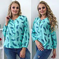 Женская летняя блуза с принтом, фото 1