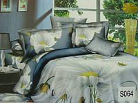 Сатиновое постельное белье евро 3D ELWAY S064