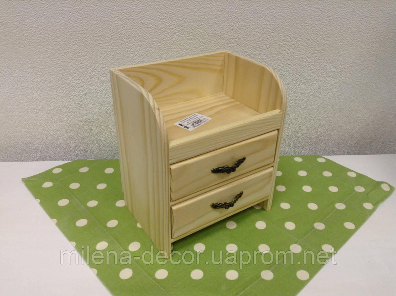 Комодик на 2 ящика с полочкой (15*11*17 см.)