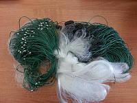 Сеть китайка ячейка 22, одностенная, для промышленного лова. Рыболовная сеть одностенная 100*1,8, ячейка 22.