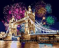 РукИТвор Картина по номерам (BK-GX8319) Салют над Лондоном (50х40)