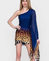 Коктейльное платье с одним рукавом (1417 sk)