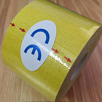 Кинезио тейп ( Kinesio Tape ) 5 см х 5 м, 7.5см х 5м, 10см х 5м желтый 5см х 5м