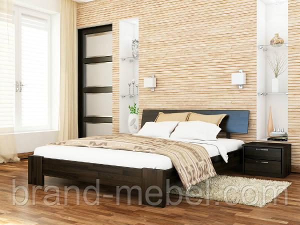 Дерев'яне ліжко двоспальне Титан / Деревянная кровать двуспальная Титан