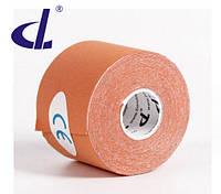 Кинезио тейп Kinesio tape DL 5 см х 5 м оранжевый