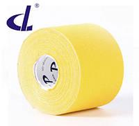 Кинезио тейп Kinesio tape DL 5 см х 5 м желтый