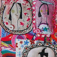 Ткань блузочная принтованная «Маркет», фото 1
