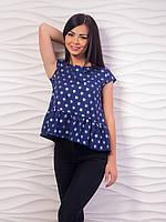 Блуза женская с воланом по низу p.42-48 VM1982-2