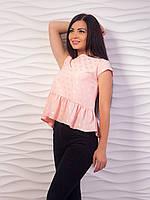 Блуза женская с воланом по низу p.42-48 VM1982-4