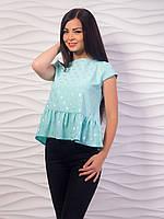 Блуза женская с воланом по низу p.42-48 VM1982-5