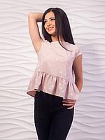 Блуза женская с воланом по низу p.42-48 VM1982-7