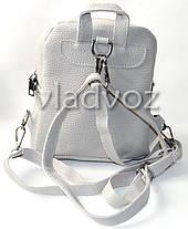 0ce09b825ec2 Молодежный модный рюкзак подросток девочка с бантиком серый, фото 2