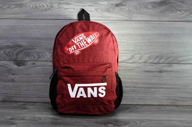 Красный рюкзак Vans, фото 2