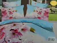 Сатиновое постельное белье евро 3D ELWAY S180