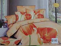 Сатиновое постельное белье евро 3D ELWAY S190