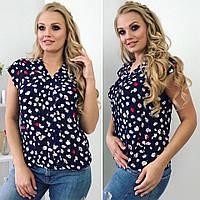 Женская летняя блуза с модным принтом. Размер 46,48,50, фото 1