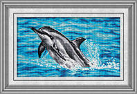 """Набор для рисования камнями (холст) """"Дельфин"""" LasKo TT023"""