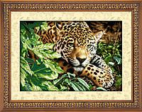"Набор для рисования камнями (холст) ""Отдыхающий леопард"" LasKo TT022"