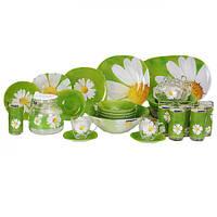 Paquerette Green Сервиз столовый 38 предметов ударопрочное стекло Luminarc
