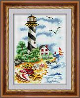 "Набор для рисования камнями (холст) ""Путь к маяку"" LasKo TP016"
