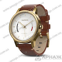 Спортивные часы Garmin vivomove Premium Gold-Tone Steel with Leather Band