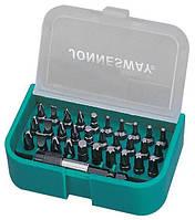 Комплект бит Jonnesway DBT31B PH1, PH2, PH3; PZ1, PZ2, PZ3; T10, T15, T20, T25, T30; H4, H5, H6; SL4, SL5.5, SL6.5 мм 31 пр. (DBT31B)