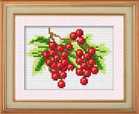 """Набор для рисования камнями (холст) """"Вкусная ягода 2"""" LasKo TK044"""