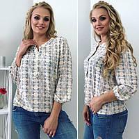 Женская летняя блуза три четверти рукав, фото 1
