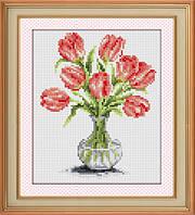 "Набор для рисования камнями (холст) ""Тюльпаны в вазе"" LasKo TK042"