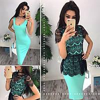 Платье с кружевной блузкой - болеро 0561-5