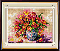"Набор для рисования камнями (холст) ""Яркие тюльпаны"" LasKo TK038"