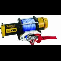 Лебедка ATW PRO-3500, 12V, 1.587т, 5.5мм* 15м, синтетический трос (7207110)
