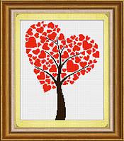 """Набор для рисования камнями (холст) """"Древо любви"""" LasKo TD004"""