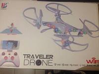 Летающий дрон с WI-FI Traveler Drone