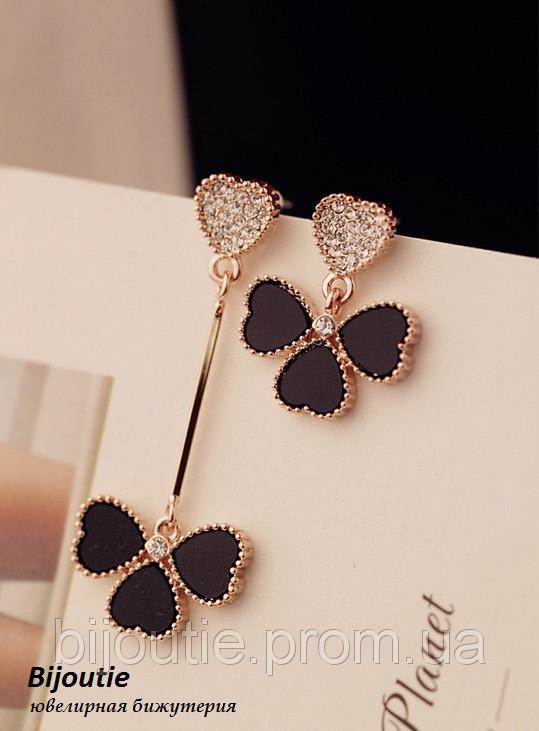 Серьги LOUIS VUITTON ювелирная бижутерия золото 14к декор кристаллы Swarovski