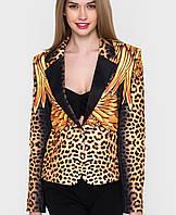Женский леопардовый пиджак (Пиджак с золотыми крыльями sk)