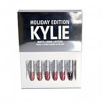 Набор матовых жидких губных помад Kylie Holiday Edition 6 pcs, коллекция Кайли
