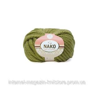 Пряжа Nako Pure Wool Plus Оливковый