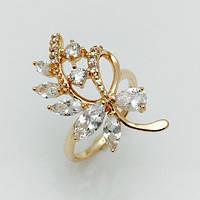 Женское кольцо веточка, размер 17, 18, 19