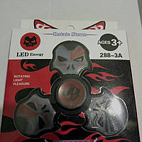 Спиннер LED череп Deadpool Dark. (288-3A)Светодиодный LED Spinner - игрушка антистресс