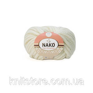 Пряжа Nako Pure Wool Plus Белый
